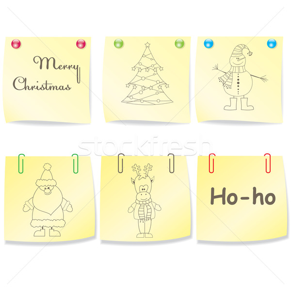 Large Set of Christmas paper .Vector illustration Stock photo © shekoru