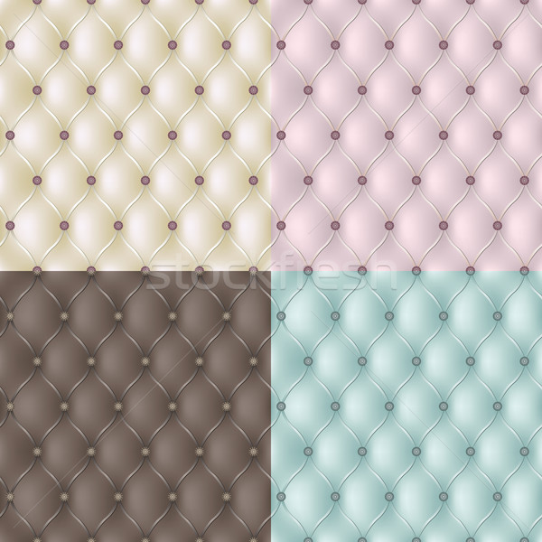 Set genuine leather texture. Vector Stock photo © shekoru