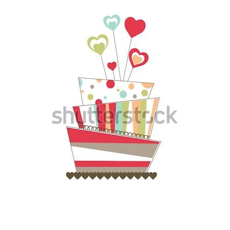 торт розовый дизайна фрукты фон Сток-фото © shekoru