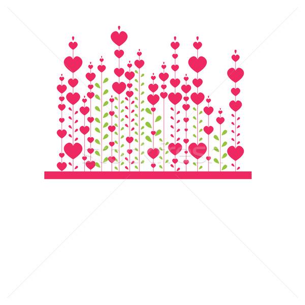 розовый сердце компьютер цветы природы Сток-фото © shekoru