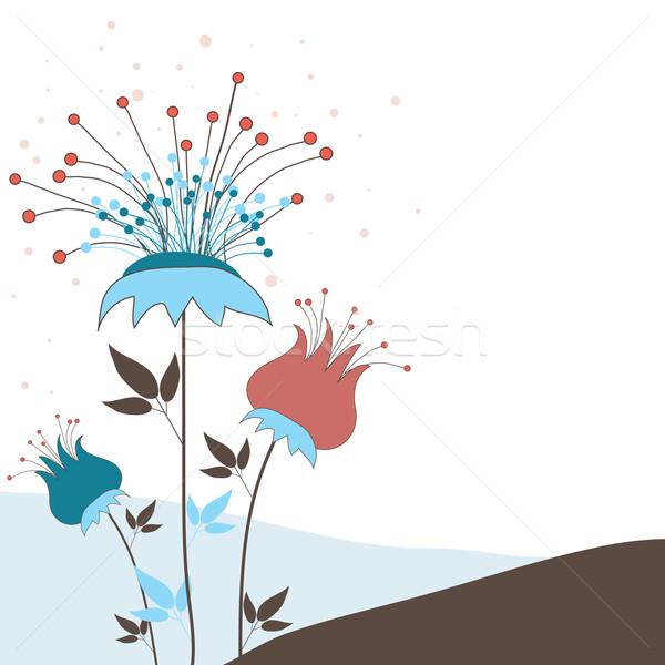 çiçekler bahar dizayn boya sanat yaz Stok fotoğraf © shekoru