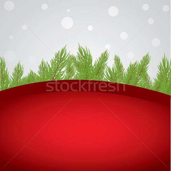 Abstrato natal vermelho pinho projeto neve Foto stock © shekoru