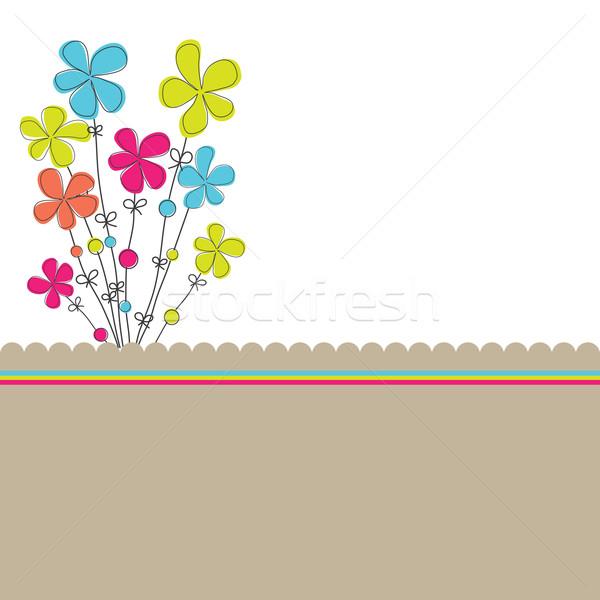 цветы весны дизайна краской искусства лет Сток-фото © shekoru