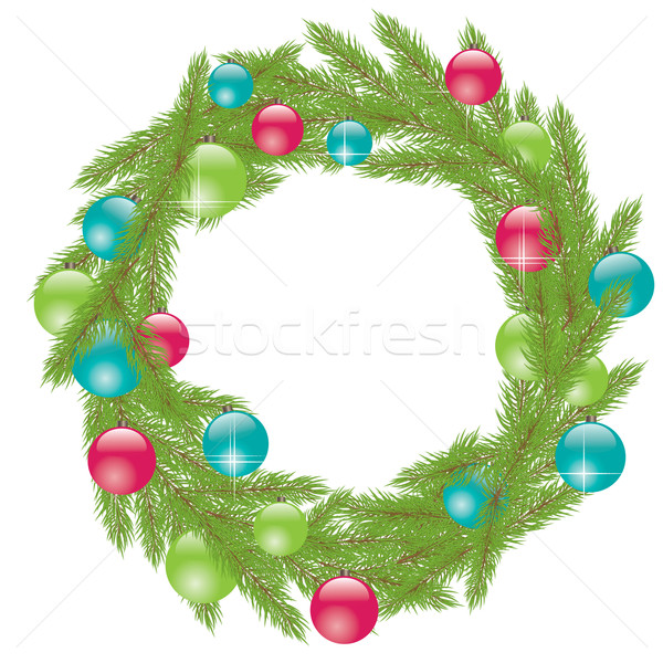 Christmas Wreath. Vector illustration Stock photo © shekoru