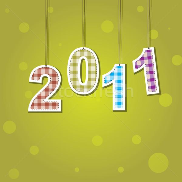 ストックフォト: 新しい · 年 · カード · 2011 · 色 · 光