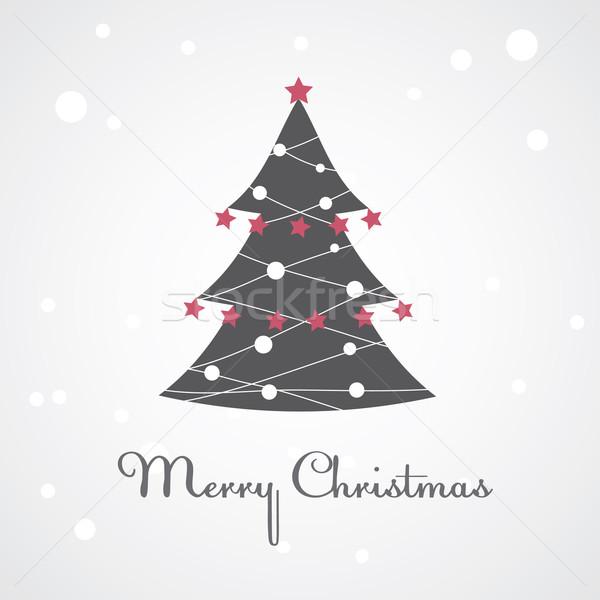 рождественская елка красочный украшение дерево зима синий Сток-фото © shekoru