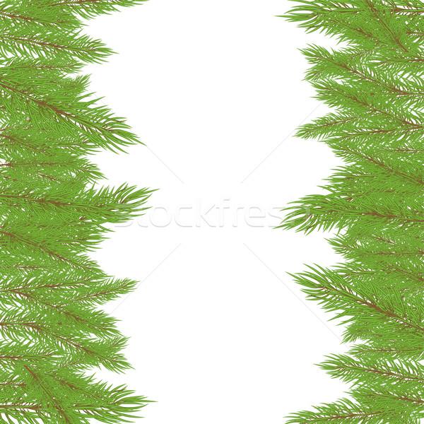 Рождества зеленый дерево природы фон искусства Сток-фото © shekoru