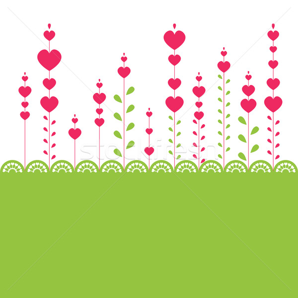 Rosa coração computador flores natureza Foto stock © shekoru