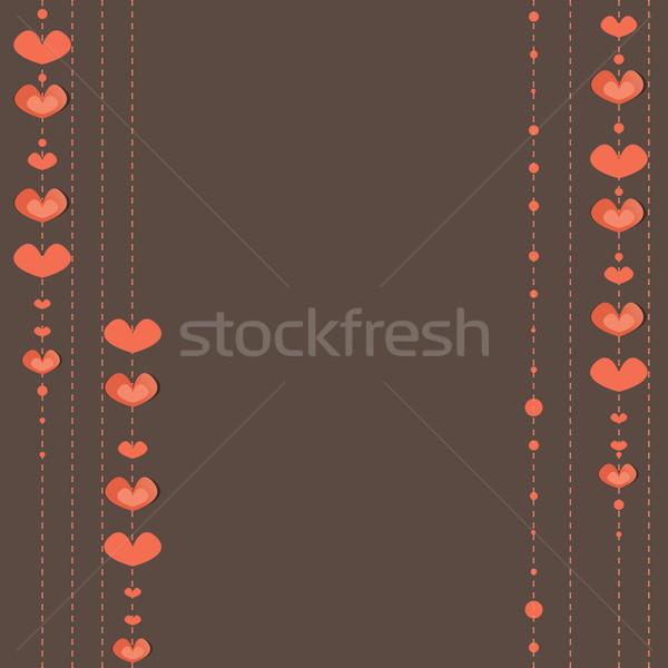 сердцах счастливым радуга красный карт розовый Сток-фото © shekoru