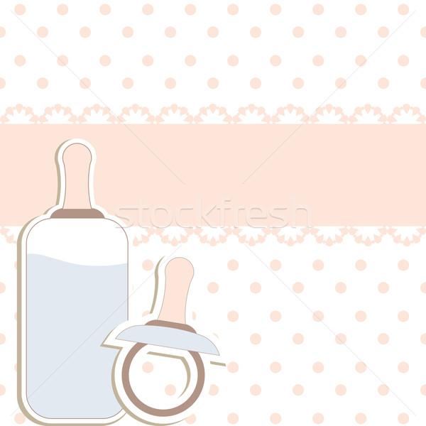 Bebek dizayn elemanları çocuk doğum günü arka plan Stok fotoğraf © shekoru