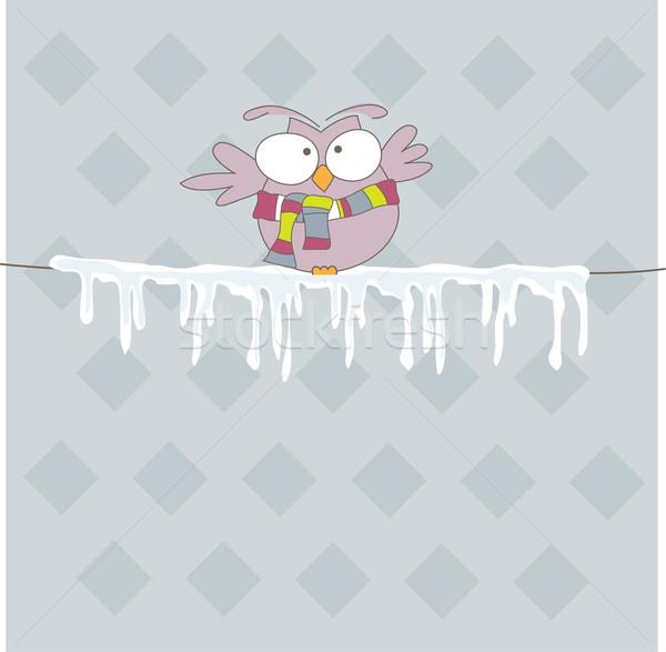 красочный совы веревку льда глаза сердце Сток-фото © shekoru