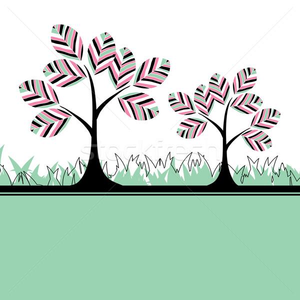 аннотация дерево цветы цветок мира Сток-фото © shekoru