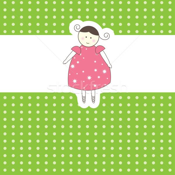 ребенка прибытие карт девушки любви счастливым Сток-фото © shekoru