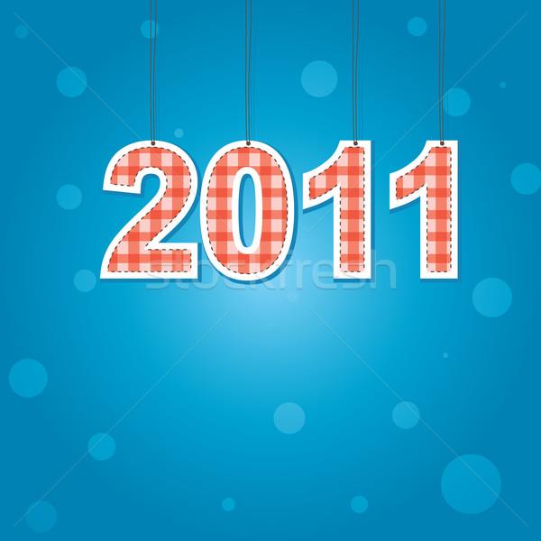 Novo anos cartão 2011 cor luz Foto stock © shekoru