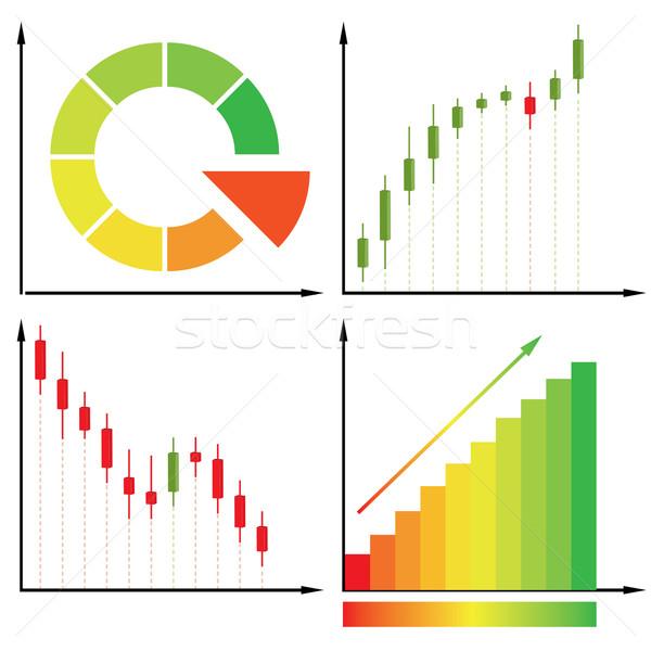 свечей диаграмма деньги аннотация красный Финансы Сток-фото © shekoru