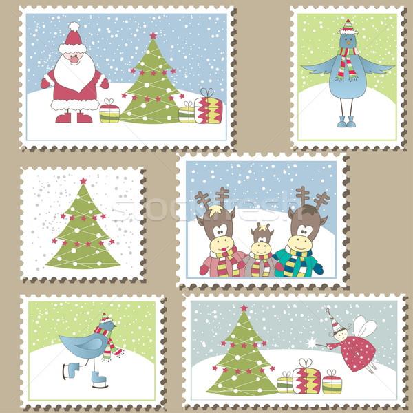 ストックフォト: クリスマス · 実例 · セット · カラフル · 紙