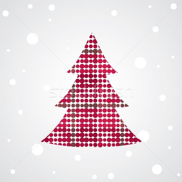 árvore de natal colorido decoração árvore abstrato pintura Foto stock © shekoru