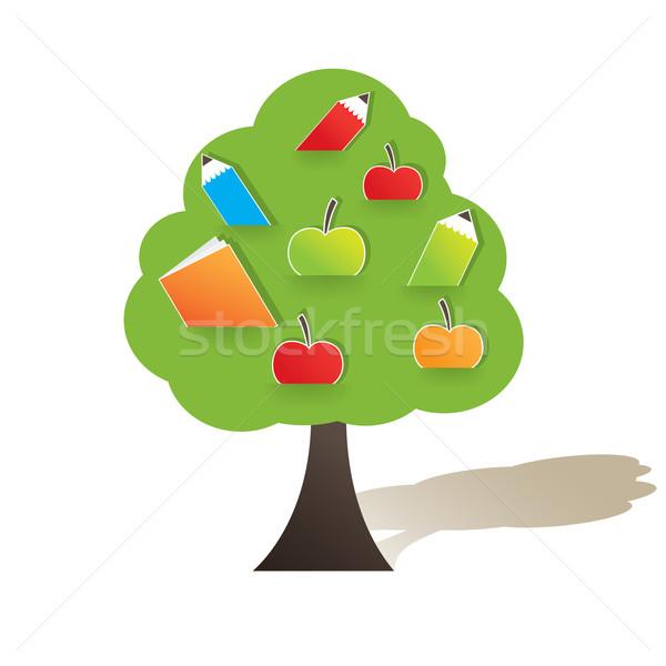 яблоко аннотация красное яблоко природы фрукты Сток-фото © shekoru