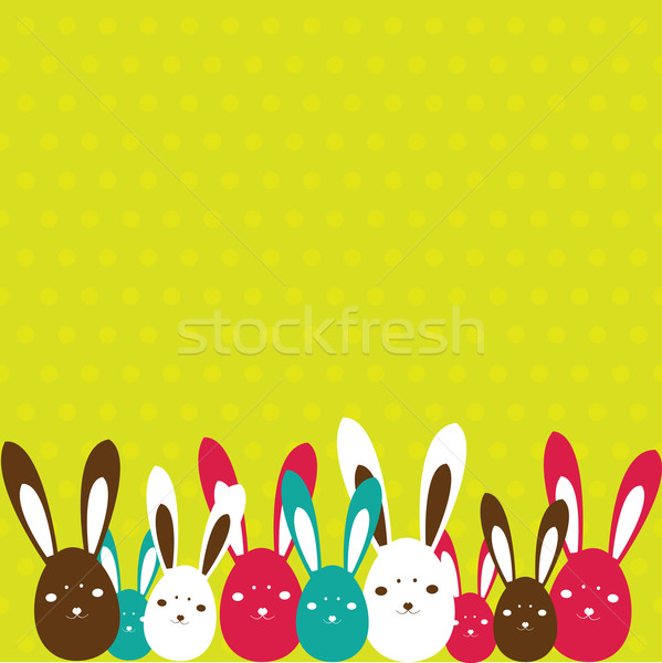 Easter card with rabbit . Vector illustration Stock photo © shekoru