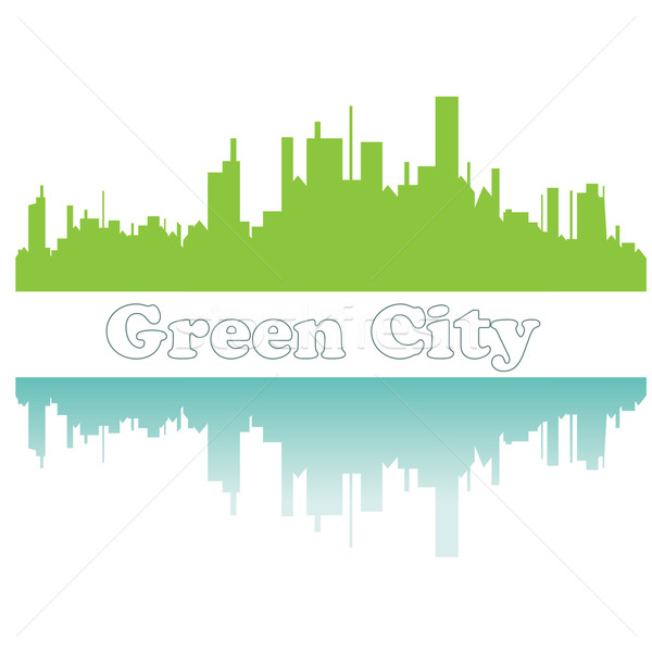 зеленый город эскиз цветок солнце спорт Сток-фото © shekoru