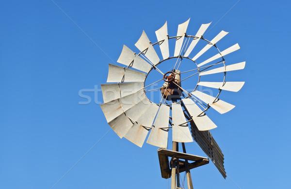 Windmill Blue Sky копия пространства энергии власти ветер Сток-фото © sherjaca