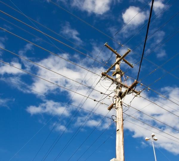 Erő hálózat ausztrál pólus elektromosság posta Stock fotó © sherjaca