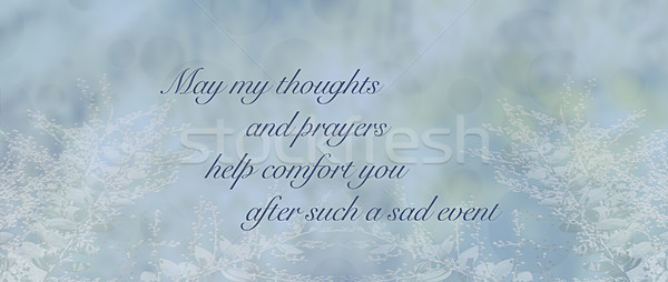 Blue condolence sympathy card background Stock photo © sherjaca
