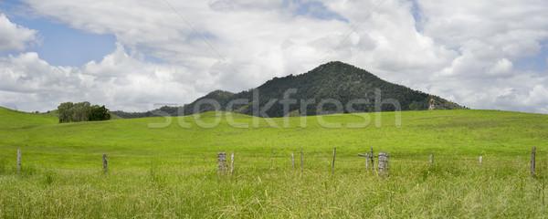 Kırsal panorama ülke sahne avustralya tel Stok fotoğraf © sherjaca