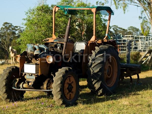 Vintage trattore usato agricoltura Australia Foto d'archivio © sherjaca