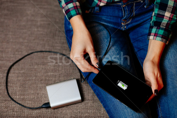 powerbank charge smartphone Stock photo © shevtsovy