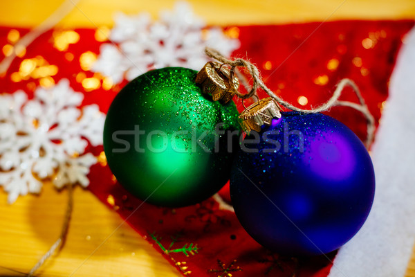 new year ball with snowflakes holiday background Stock photo © shevtsovy