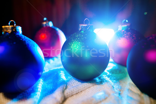 new year balls collection background Stock photo © shevtsovy