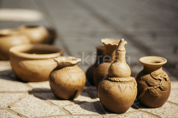 clay pot and vase handicraft Stock photo © shevtsovy