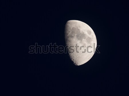 Bright half moon in the silent sky Stock photo © shihina