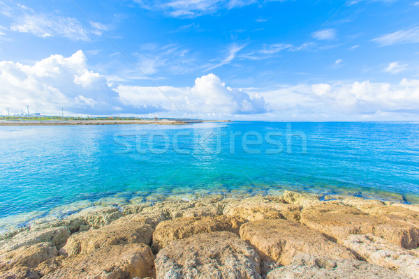 Reef and sea of emerald green Stock photo © shihina