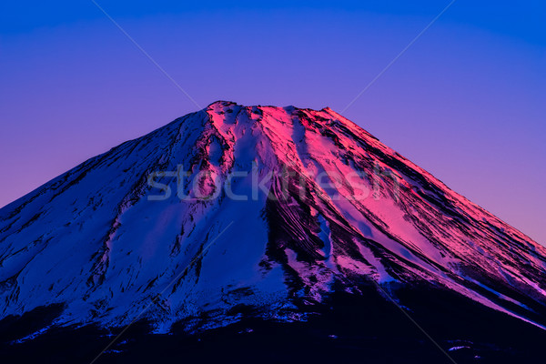 Vermilion summit of Mount Fuji, a world heritage in Japan Stock photo © shihina