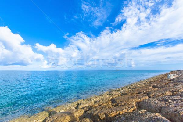 Deniz zümrüt yeşil su doku arka plan Stok fotoğraf © shihina
