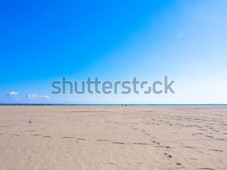 Brillante cielo azul mar arena playa naturaleza Foto stock © shihina
