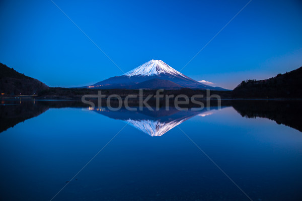 Imagem Monte Fuji de manhã cedo natureza luz neve Foto stock © shihina