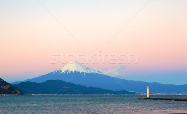 富士山 光 家 ビーチ 風景 海 ストックフォト © shihina