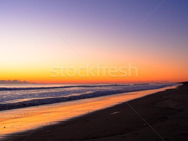 オレンジ 日の出 ロングビーチ 行 空 雲 ストックフォト © shihina
