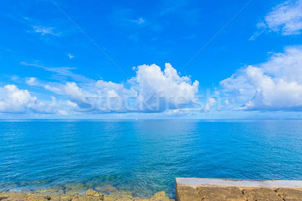 Mar nubes agua naturaleza verano azul Foto stock © shihina