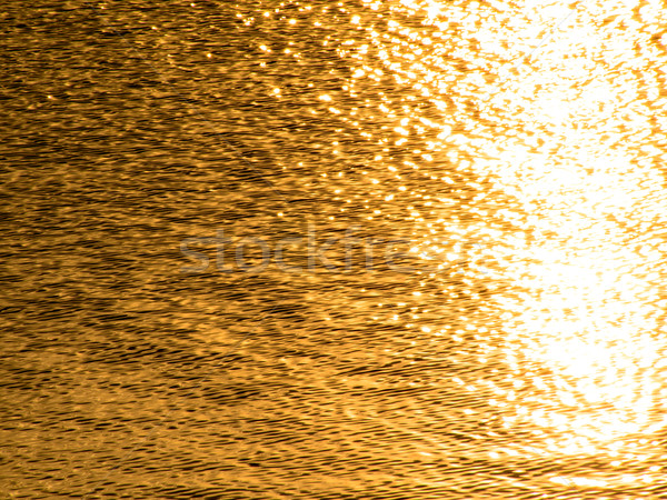 Dorado superficie río sol resumen verano Foto stock © shihina
