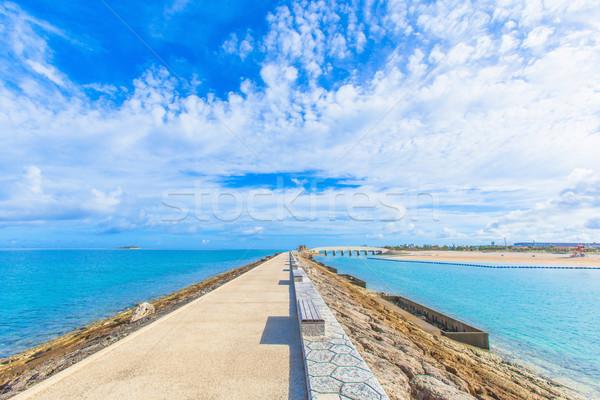 Cielo agua nubes sol mar belleza Foto stock © shihina