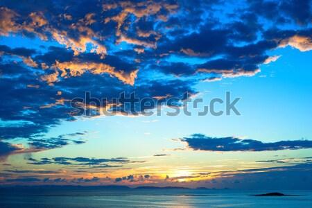 海 雲 水 太陽 背景 ストックフォト © shihina