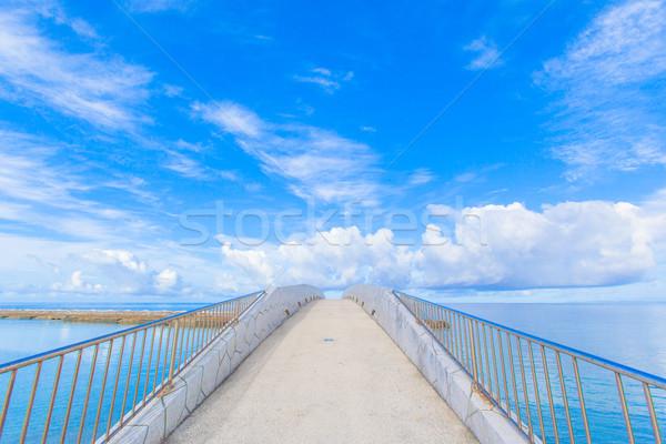 橋 海 空 水 雲 太陽 ストックフォト © shihina