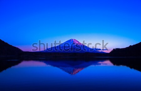 Inverted image of Mt.Fuji at silent early morning Stock photo © shihina