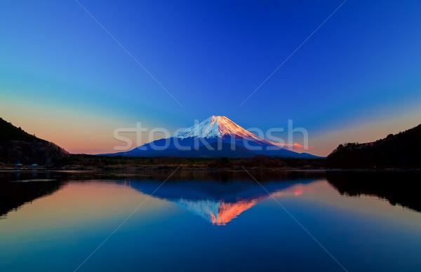 Imagen Monte Fuji amanecer naturaleza luz nieve Foto stock © shihina