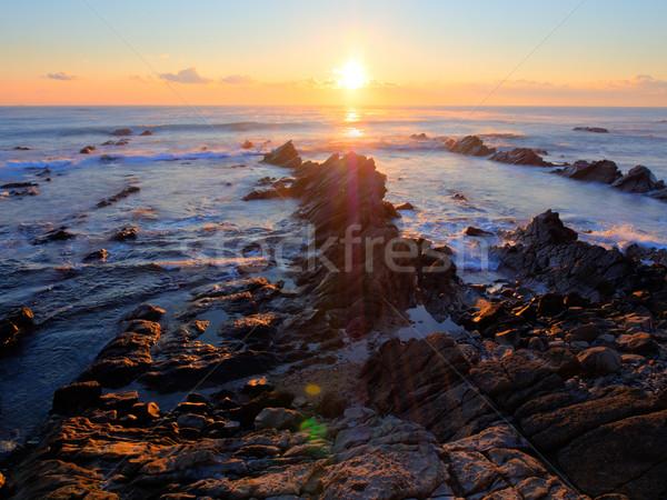 Hermosa amanecer cielo agua Foto stock © shihina