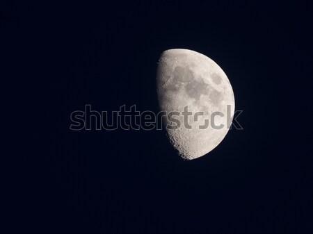 Goede geluk groene halo maan wolken Stockfoto © shihina